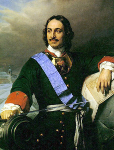 Peter the Great, clearly in need of a beer